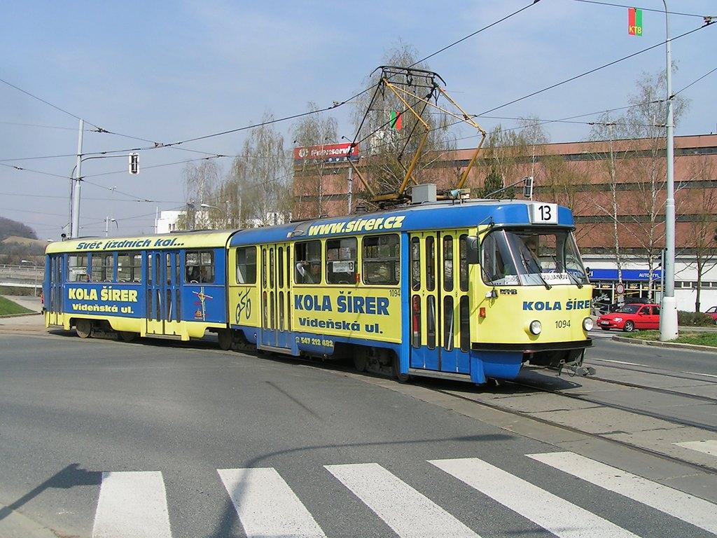 Fotogalerie » ČKD Tatra K2 1094 | Brno | Královo Pole | Purkyňova