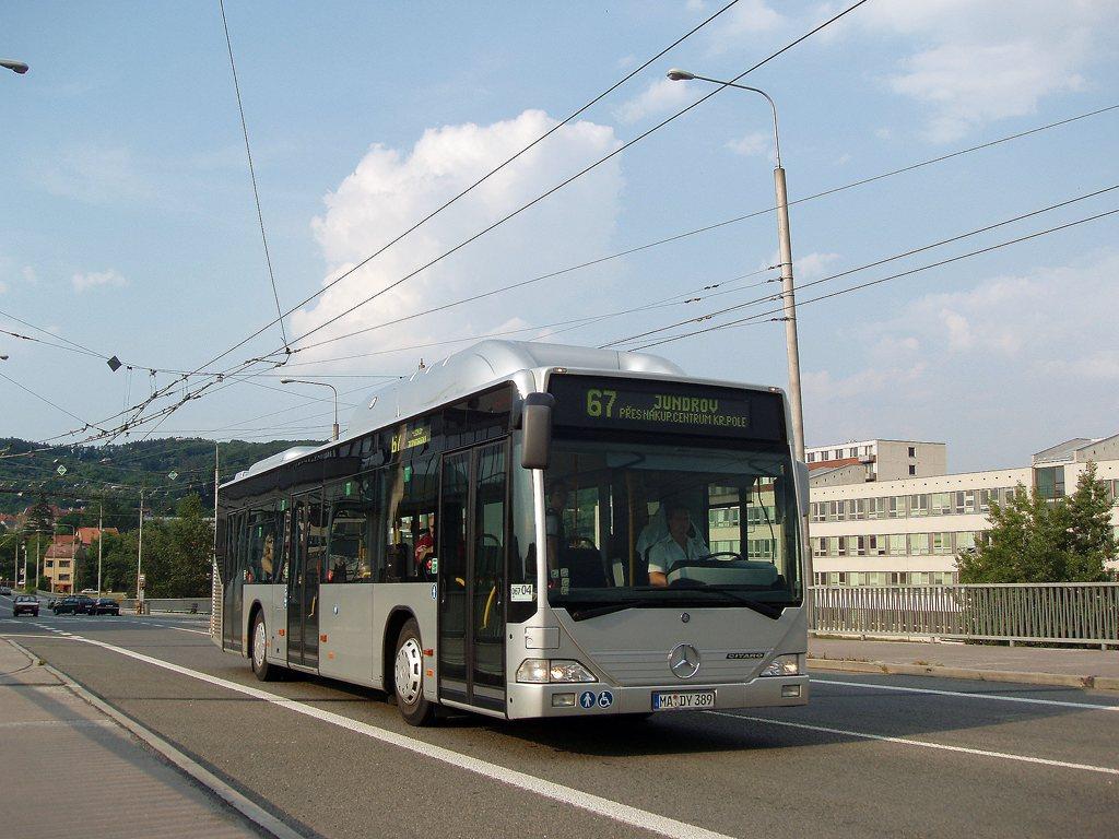 Fotogalerie » Mercedes-Benz Citaro CNG MA DY 389 2702 | Brno | Komín | Veslařská