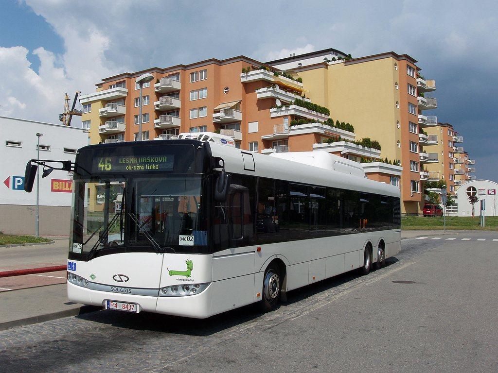Fotogalerie » Solaris Solaris Urbino 15 CNG P4 8437 2701   Brno   Lesná   Okružní   Haškova