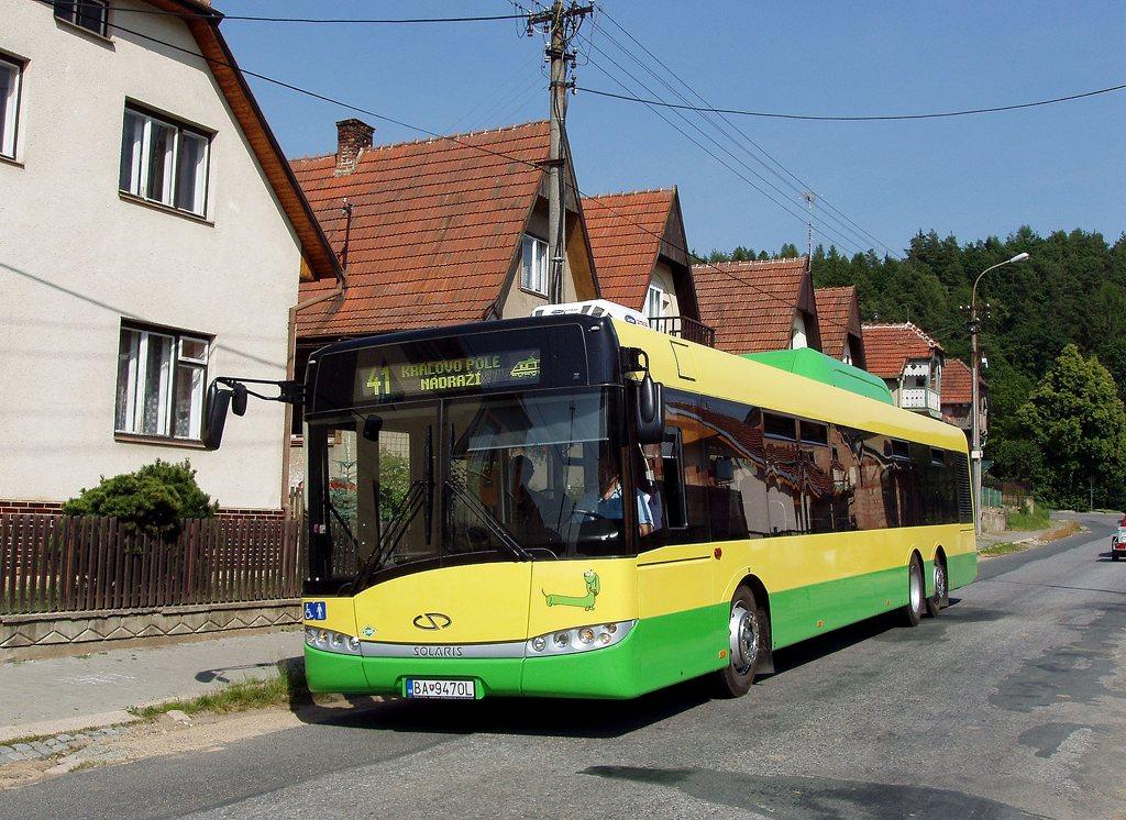 Fotogalerie » Solaris Solaris Urbino 15 CNG BA 9470L 2701 | Lelekovice | Lelekovice, u kříže