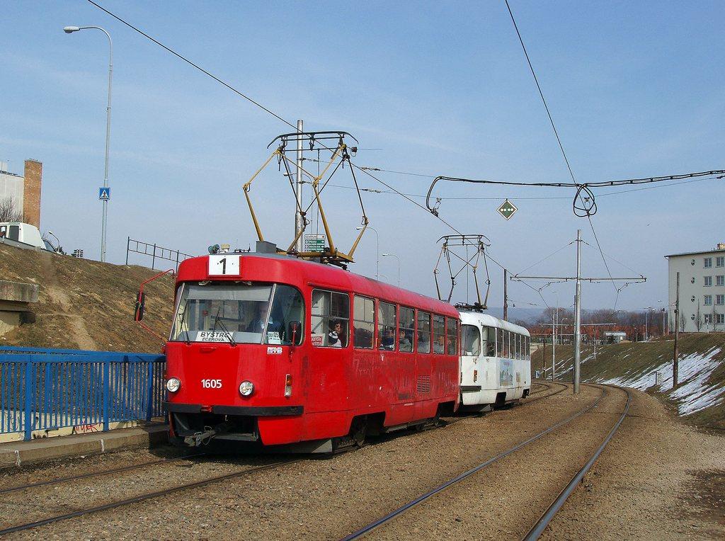 Fotogalerie » ČKD Tatra T3G 1605 | ČKD Tatra T3G 1617 | Brno | Bystrc | Ondrouškova
