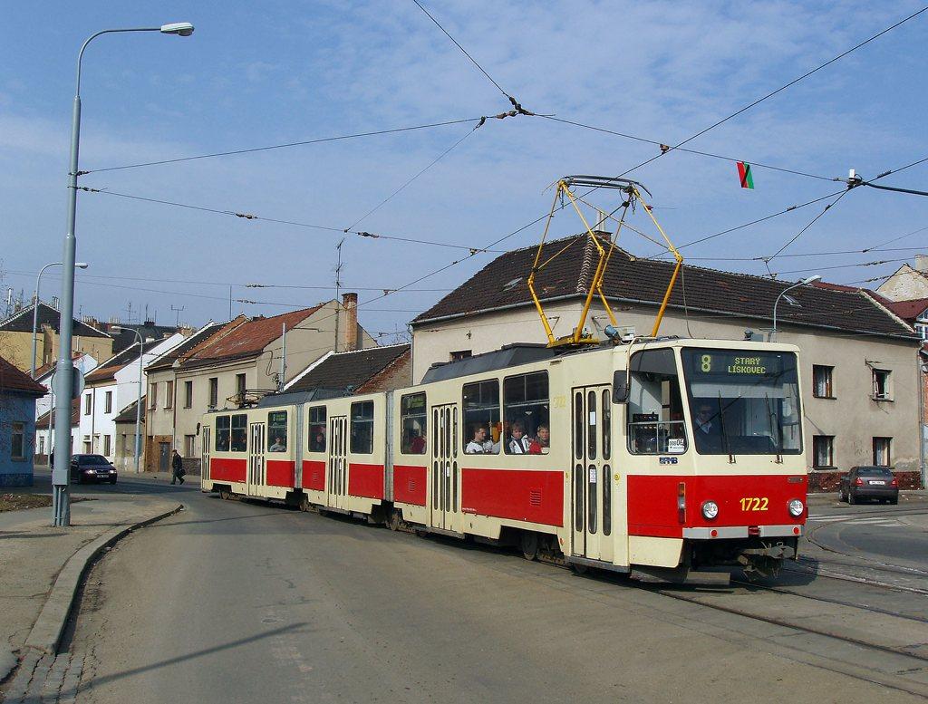 Fotogalerie » ČKD Tatra KT8D5 1722 | Brno | Židenice | Životského