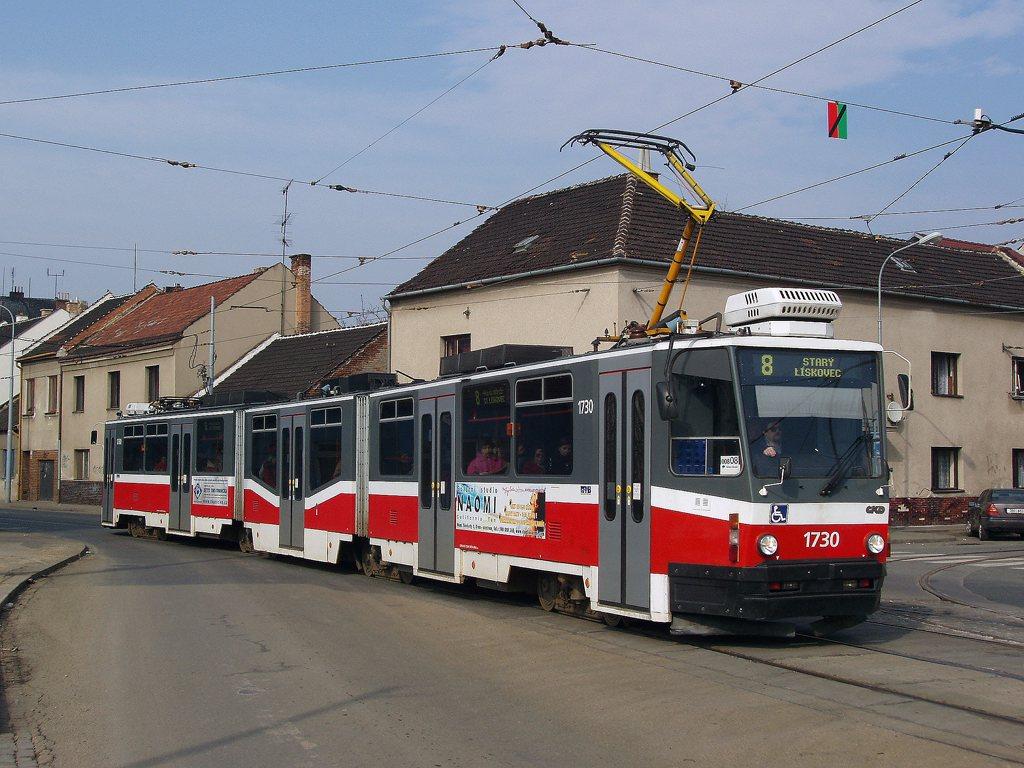 Fotogalerie » ČKD Tatra KT8D5N 1730 | Brno | Židenice | Životského