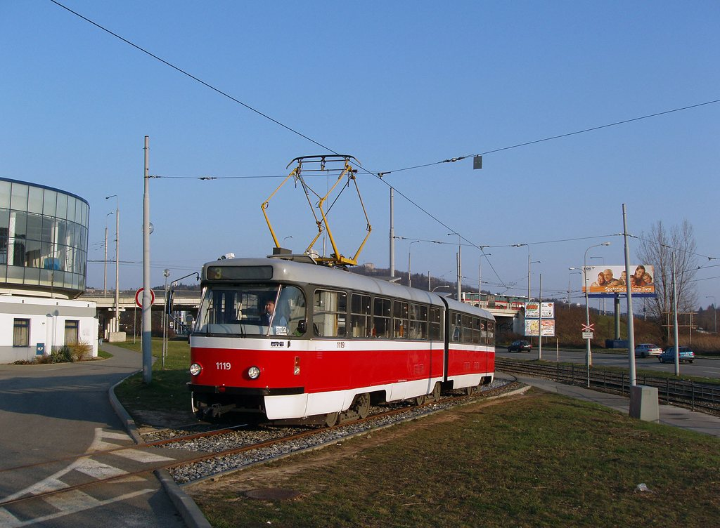 Fotogalerie » ČKD Tatra K2P 1119 | Brno | Komín | Jundrovská | Komín, smyčka