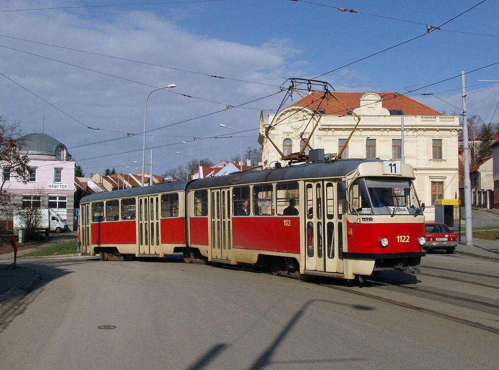 Fotogalerie » ČKD Tatra K2YU 1122 | Brno | Žabovřesky | Rosického náměstí