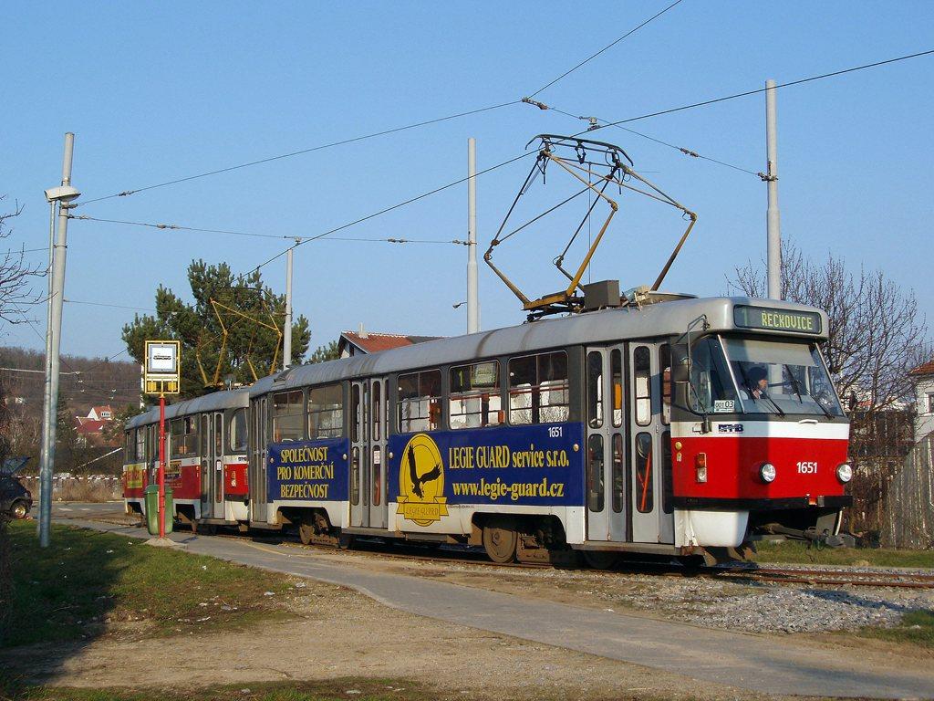 Fotogalerie » ČKD Tatra T3G 1651 | ČKD Tatra T3G 1652 | Brno | Komín | Komín, smyčka