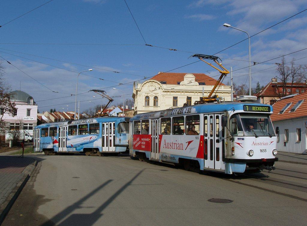 Fotogalerie » Pragoimex T3R.PV 1655 | Pragoimex T3R.PV 1656 | Brno | Žabovřesky | Rosického náměstí