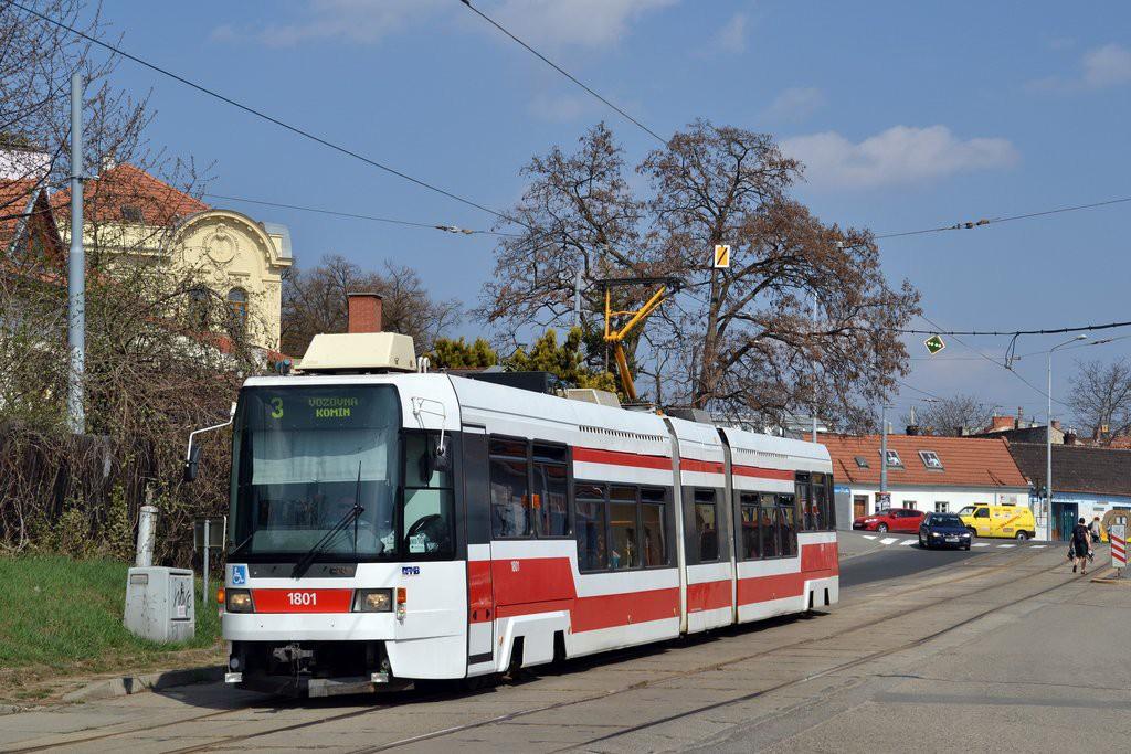 Fotogalerie » ČKD DS RT6N1 1801 | Brno | Žabovřesky | Sochorova | Rosického náměstí