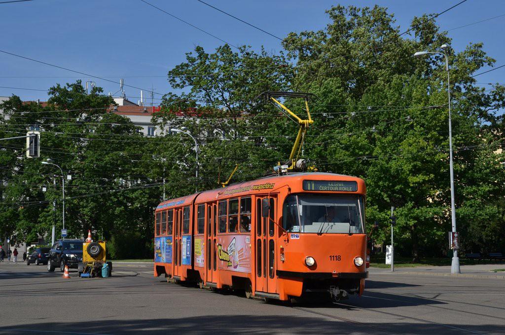 Fotogalerie » ČKD Tatra K2P 1118   Brno   střed   Moravské náměstí