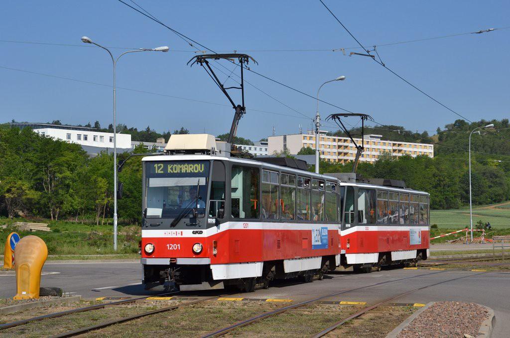 Fotogalerie » ČKD DS T6A5 1201 | ČKD DS T6A5 1202 | Brno | Královo Pole | Purkyňova