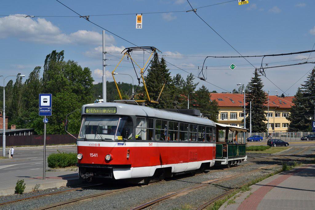 Fotogalerie » ČKD Tatra T3M 1541   Graz / Ödenburg vp1 25   Brno   Medlánky   Hudcova   Vozovna Medlánky