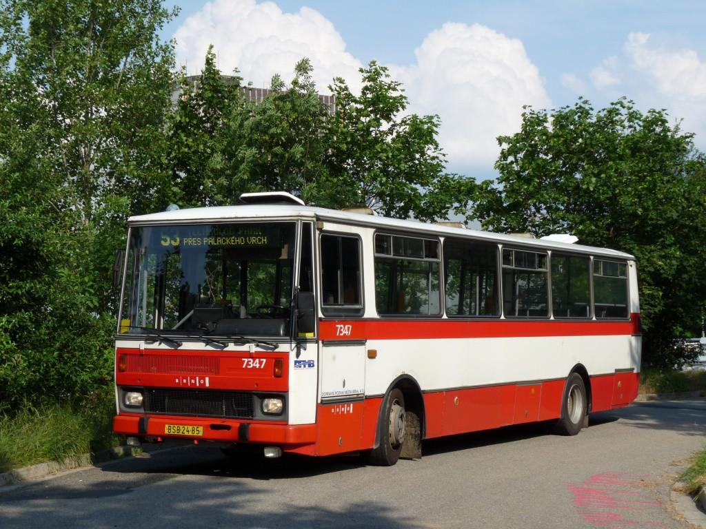 Fotogalerie » Karosa B732.1654 BSB 24-85 7347 | Brno | Královo Pole | U Vodárny | Palackého vrch