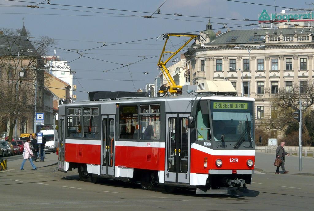Fotogalerie » ČKD DS T6A5 1219 | Brno | střed | Moravské náměstí
