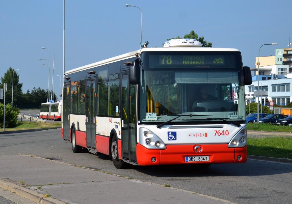 Fotogalerie » Irisbus Citelis 12M 3B9 8341 7640 | Brno | Líšeň | Novolíšeňská | Jírova
