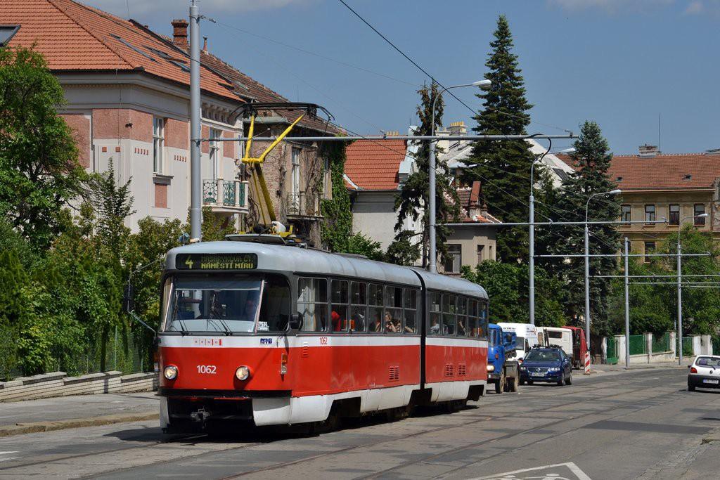 Fotogalerie » ČKD Tatra K2P 1062 | Brno | střed | Údolní | Všetičkova