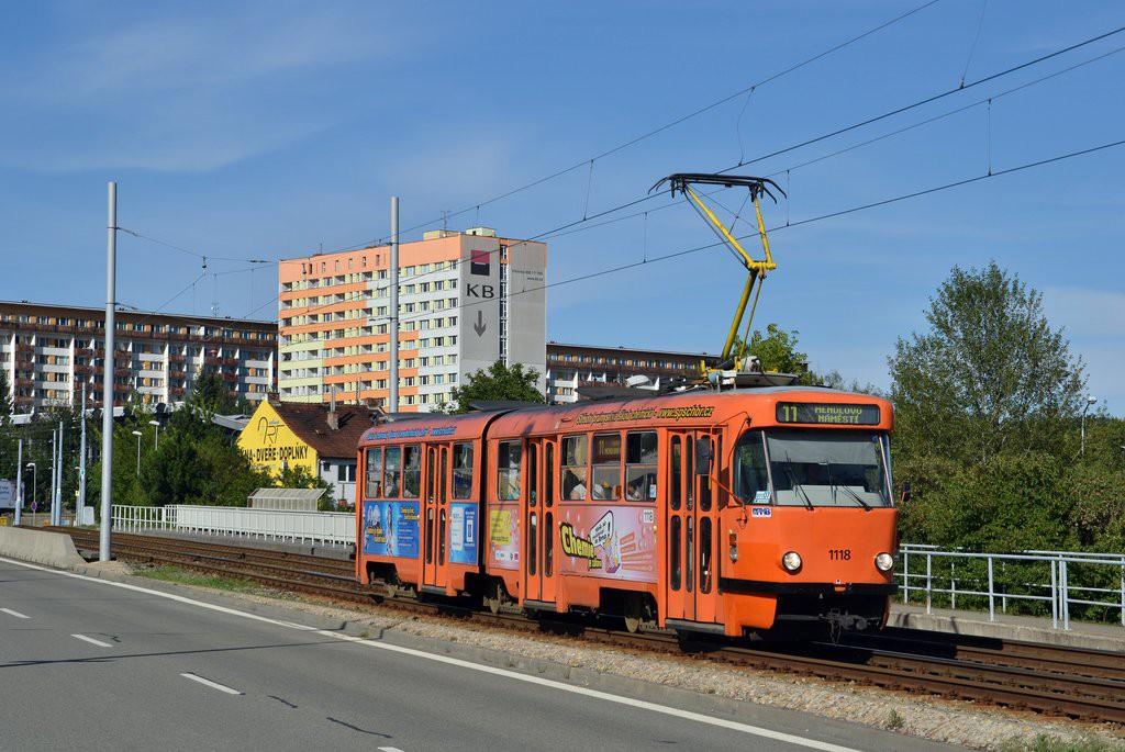 Fotogalerie » ČKD Tatra K2P 1118 | Brno | Lesná | třída Generála Píky