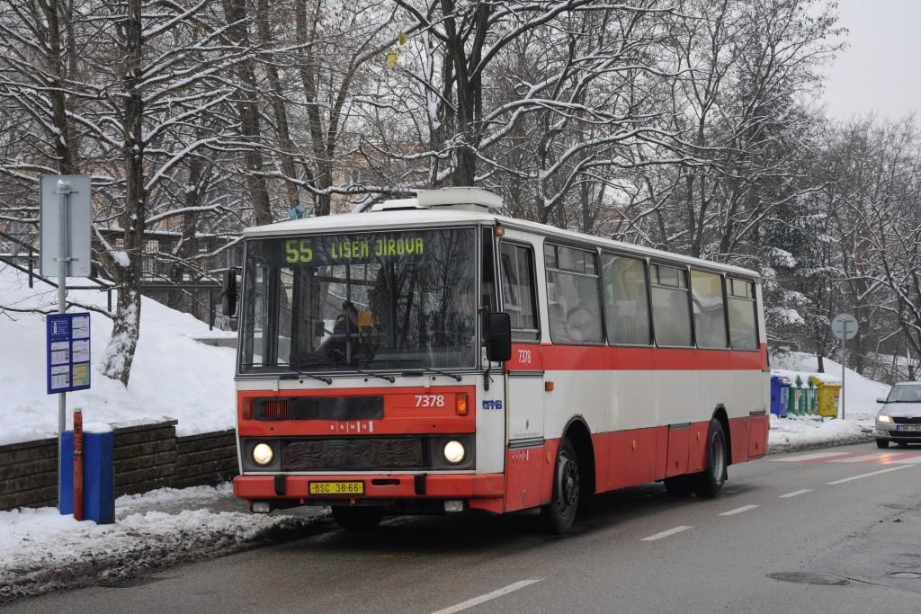 Fotogalerie » Karosa B732.1654.3 BSC 38-66 7378   Brno   Juliánov   Bělohorská   Podlomní