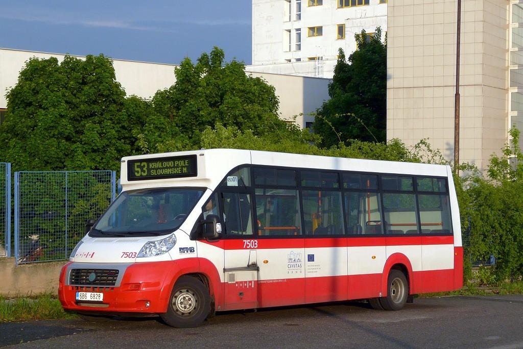 Fotogalerie » MAVE-Fiat CiBus ENA MAXI 6B6 6828 7503 | Brno | Královo Pole | Purkyňova | Technologický park