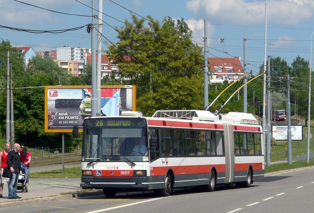 Fotogalerie » Škoda 22Tr 3607   Brno   Líšeň   Novolíšeňská
