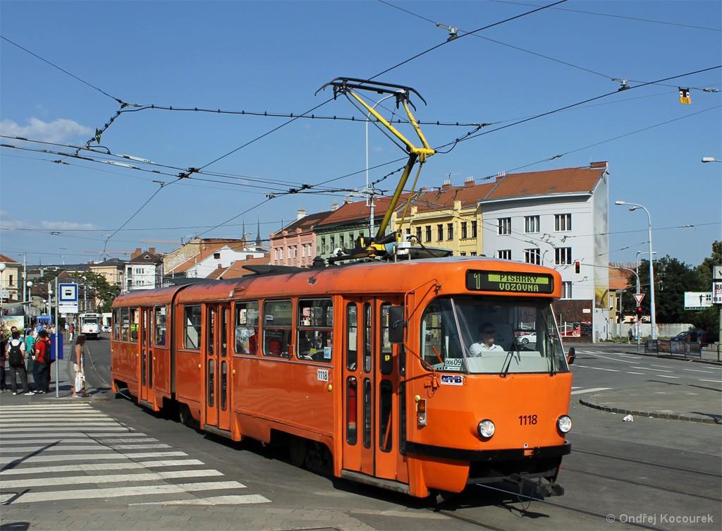 Fotogalerie » ČKD Tatra K2P 1118 | Brno | Staré Brno | Mendlovo náměstí | Mendlovo náměstí
