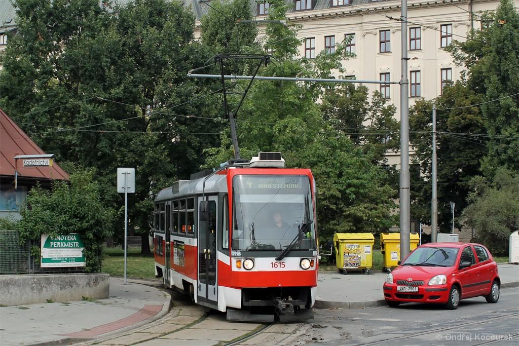 Fotogalerie » ČKD Tatra T3R 1615 | Brno | Černá Pole | Lesnická | Zemědělská