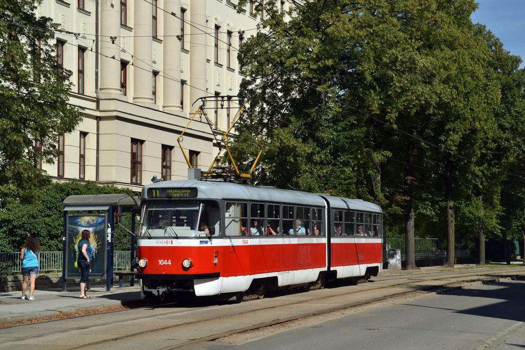 Fotogalerie » ČKD Tatra K2T 1044 | Brno | Černá Pole | Lesnická | Zemědělská