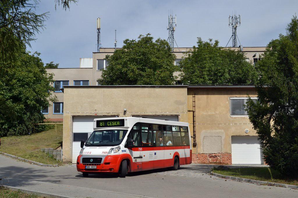 Fotogalerie » MAVE-Fiat CiBus ENA MAXI 6B6 6822 7505 | Brno | Královo Pole | Křižíkova | Křižíkova - areál škol