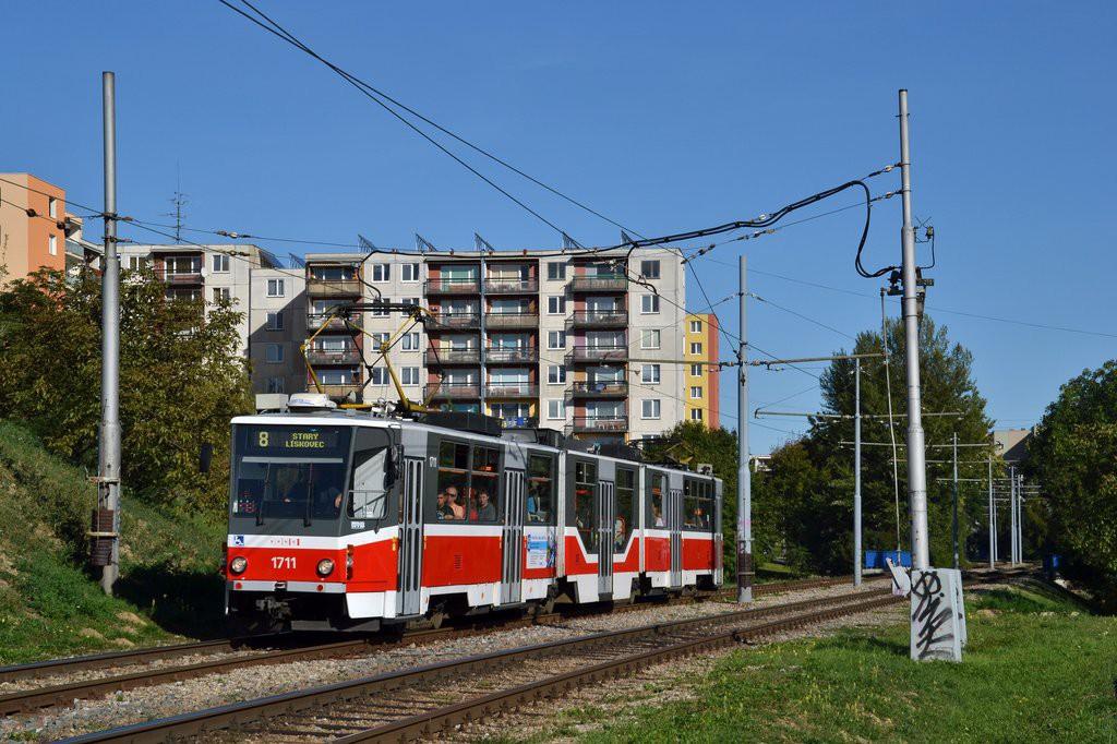 Fotogalerie » ČKD Tatra KT8D5R.N2 1711 | Brno | Bohunice