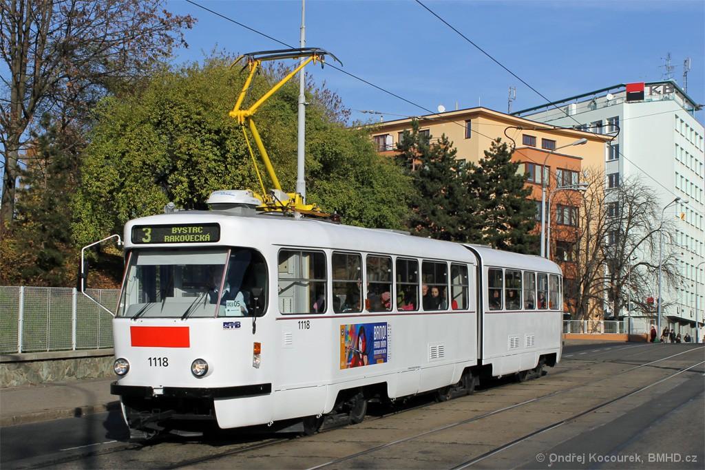 Fotogalerie » ČKD Tatra K2P 1118 | Brno | střed | Milady Horákové