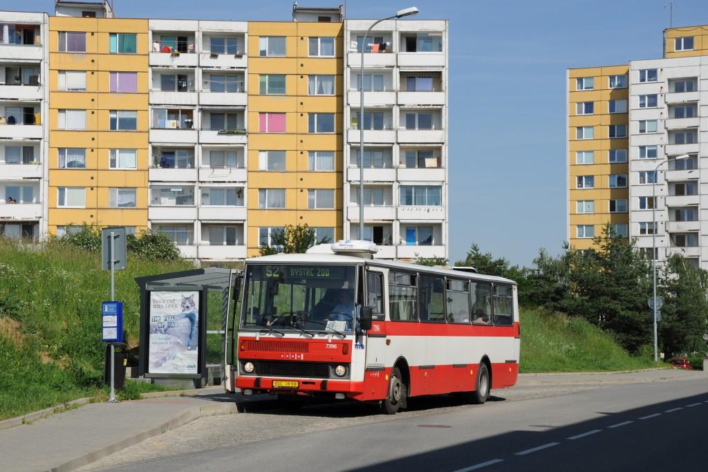 Fotogalerie » Karosa B732.1654.3 BSC 38-99 7396 | Brno | Bystrc | Říčanská | Kavčí