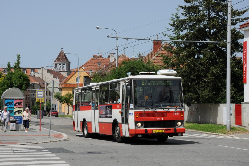 Fotogalerie » Karosa B731.1669 BSC 69-03 7415   Brno   Královo Pole   Charvátská   Charvátská