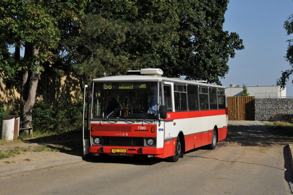 Fotogalerie » Karosa B732.1654.3 BSC 39-52 7380 | Brno | Líšeň | Šimáčkova | Líšeň, hřbitov