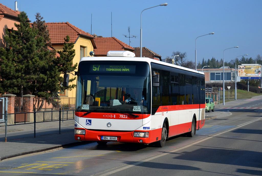 Fotogalerie » Irisbus Crossway LE 12M 9B4 6046 7822 | Brno | Černá Pole | Merhautova | Štefánikova čtvrť